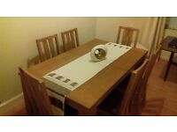 Extending Dining Table and 6 Chairs in Excellent Condition Extended measures 180cm x 90cm
