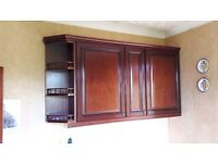 Mahogany kitchen units and also worktops and breakfast table available