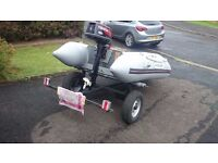 for sale boat,trailer,outboard 4hp 2 stroke