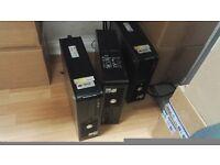 3 Dell Computer and 3 Monitors
