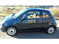 FIAT 500 LOUNGE, 1.2 Petrol, Full Red Leather, Excellent Condition, New Mot.