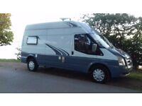 Campervan 2 berth lwb transit high roof motorhome caravan camper camping conversion touring van