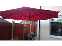 Raspberry Colour Patio Parasol 2.7m diameter