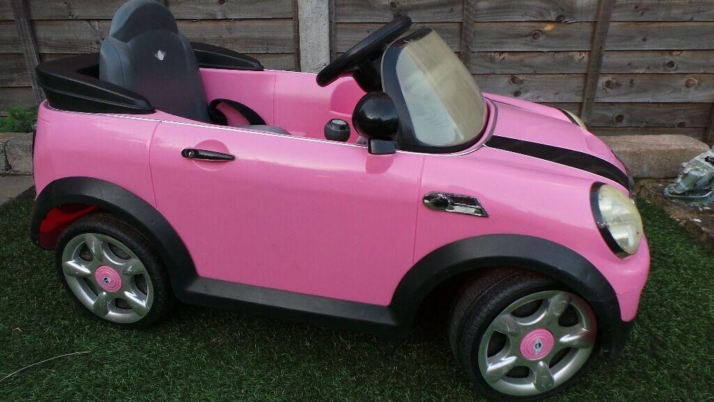 kids pink mini cooper ride on 6v buy sale and trade ads. Black Bedroom Furniture Sets. Home Design Ideas