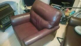 Brown Leather G plan chair