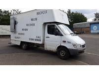 Mercedes Sprinter Van Luton 311 MWB, 2005, 3.5tonnes 103300 miles No VAT