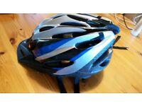 Boy blue black bike scooter helmet 54-58cm size M adjustable strap