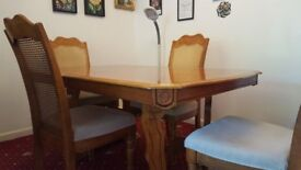 luxury dining table and 4 chairs
