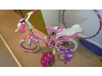 '14' Hello Kitty bike + stabilisers+accessories
