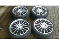 MERCEDES BENZ 19 INCH 5X112 ALLOY WHEELS E CLASS S CLASS W322 S350 E200 AMG SPORT VW