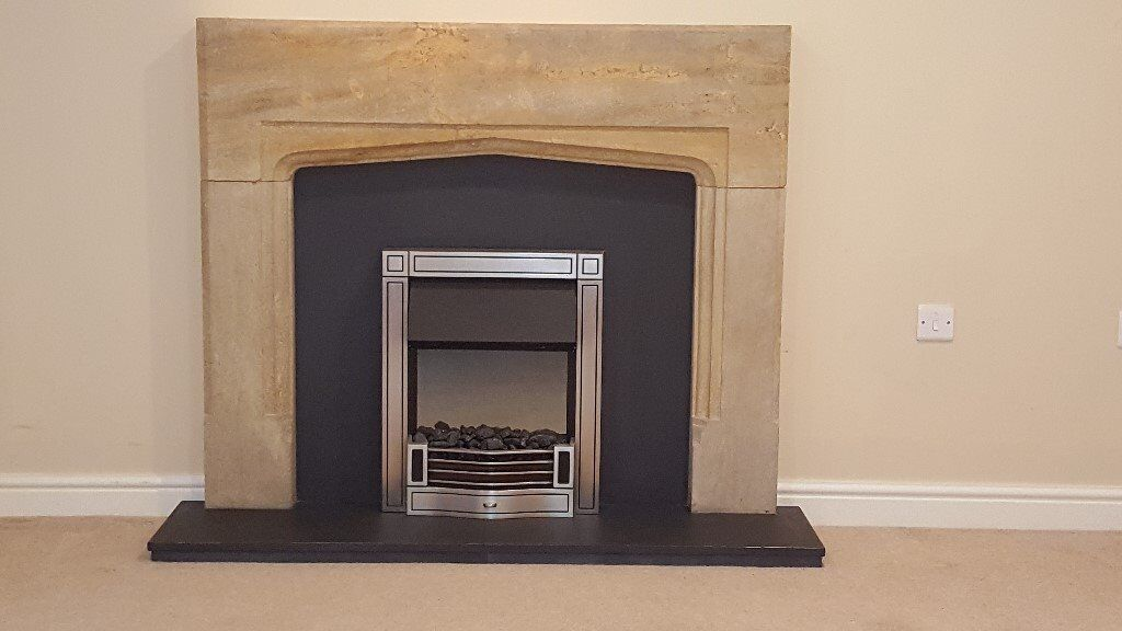 Fire surround, Hearth, Back Panel & Inset Fire - Collection Only
