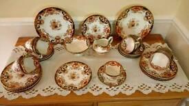 Victorian China Tea Set 40 Piece, Samuel Radford