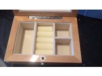 Dulwich Designs Lacquer Finish Light Coloured Wooden Jewellery Box