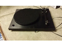 rega planar 3 no scratch lid works well phono leads just a bit loose at plug end