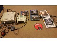 Sega dreamcast with games etc
