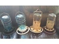 4 x Hanging Feeder & Drinker For Cage Aviary Finches/ Canary/ Budgie/Birds