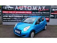 2011 (61) SUZUKI ALTO 1.0L SZ2 5 DOOR HATCH MET BLUE ONLY 40K WITH S/HISTORY NEW MOT £20 TAX CD E/W