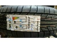 4xNew winter tyres 215/60/R16 with ford wheels