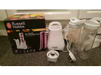 "Russell Hobbs ""Mix & Go"" blender/smoothie maker + 2x bottles"