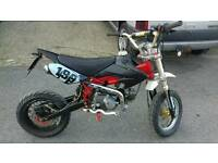 Pit bike road legal 110cc manual 4 speed engine, good runner