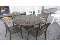 Garden Furniture made from cast iron and aluminium bristo sets table and chairs