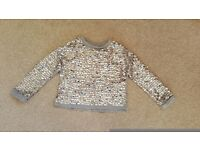 Pretty girl's sequined jumper Next age 6