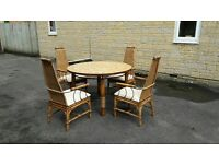 Mediterranean Style circular dining table and 4 chairs