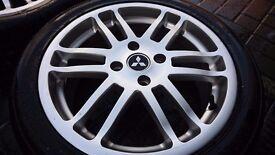 "Alloy wheels Mitsubishi 17"" 4 stud with tyres"