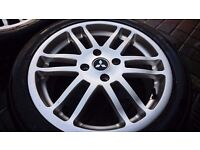 "Alloy wheels Mitsubishi 17"" 4 stud with tyres"