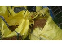 FREE building sand and scalpings / ballast - part bags - collection only