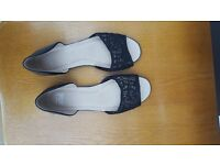 Brand New Pair of F & F Black Slip on Shoes/Sandals - Size 5