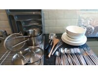 QUICK SALE KITCHENWARE - CUTLERY, DINNERSET, POTS, GLASSES, BOWL