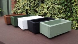 WOODEN FLOWER PLANTER BOXES, MANY SIZES & COLOURS, TREATED GARDEN FLOWER PLANTERS,HERBS,FLOWERS,BOX