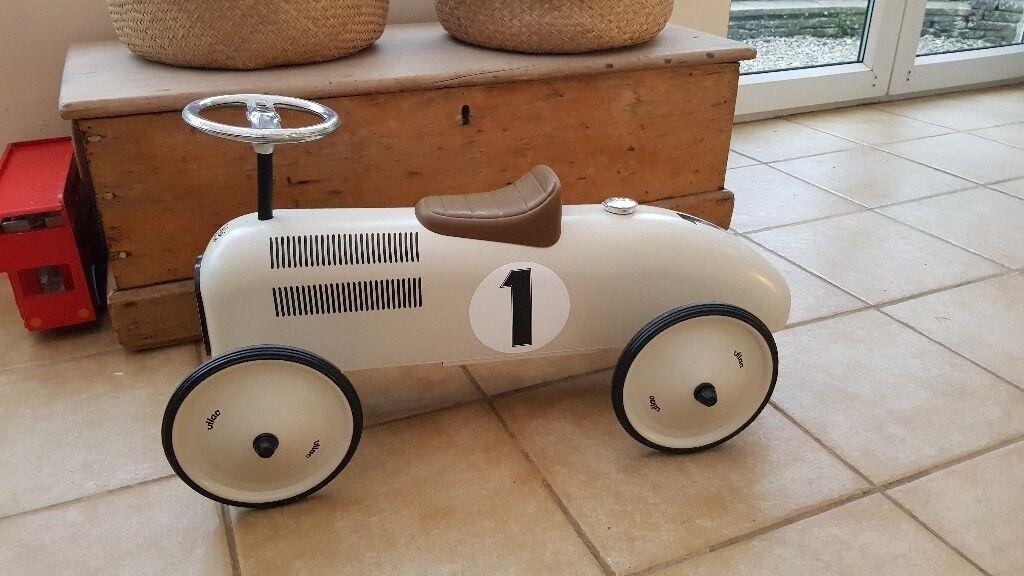 Brand new Vilac Ride on Metal Racing Car Cream | in Cirencester, Gloucestershire | Gumtree