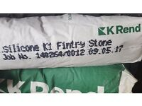K rend Krend silicone render fintry stone 8×25kg bags