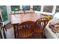 Dining set, table and 4 chairs