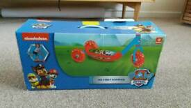 Brand new paw patrol scooter