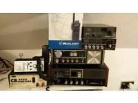 Cb radio joblot rigs mics walkie talkies aerials etc