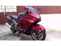 ZZR1100 in great condition and low mileage with 11 months MOT.