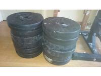 12x 5kg Vinyl Standard Weight Plates (60kg Total)
