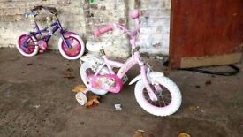 Girls small Apollo cupcake first bike with stabilisers bicycle