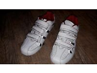 DHB R 1.0 Road Cycling Shoes, White, size 43 EUR, 8.5 UK size, good condition, SH11 cleats included