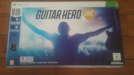 XBOX 360 GUITAR HERO LIVE. NEW AND SEALED. XMAS GIFT?