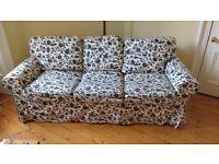 IKEA Ektorp Pixbo 3-seater sofa bed in black and white