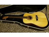 Washburn acoustic guitar with Gator case