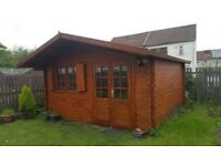 Log cabin, summer house ,garden building (14,5 X 13 FT, 44 MM)