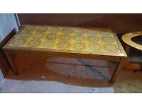 Mid Century Tiled Coffee Table