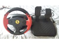 PS3 driving wheel and pedals
