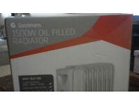 Goodmans 1500W Oil Filled Radiator