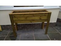 BUXTON TIMBER PLANTER - 1200mm L x 400mm D X 1000MM H - delivered
